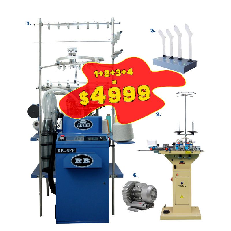 wholesale automatic computerized hosiery sock making knitting machine equipment price for the production of socks on sale