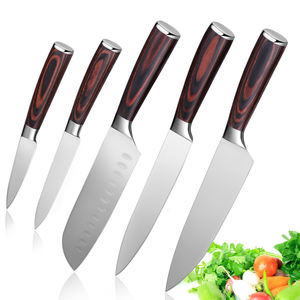 5PCS High Quality German 1.4116 Stainless Steel Kitchen Knife Set