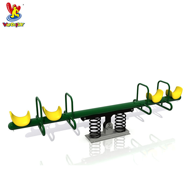 Outdoor Kids 4-seats Seesaw Play Equipment for Community Park
