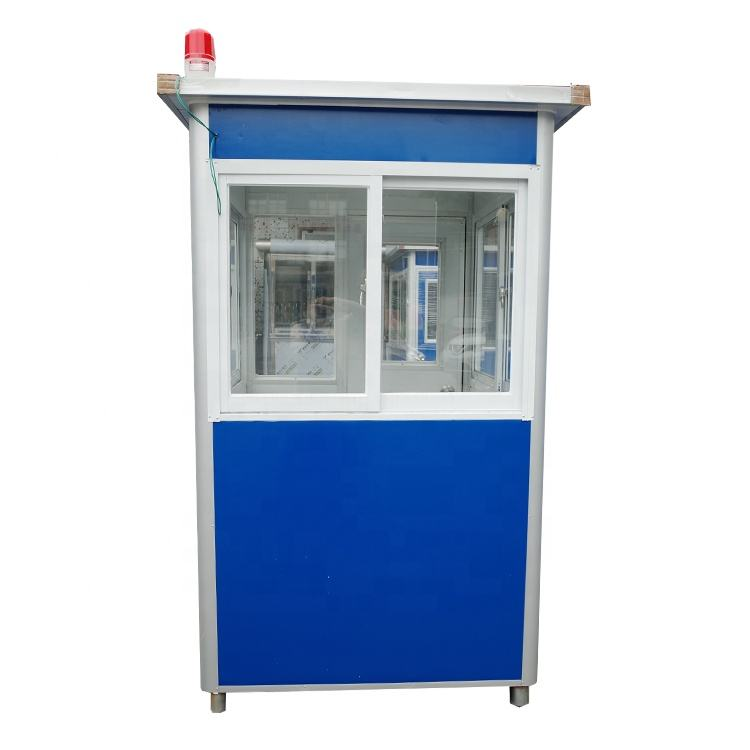 China Outdoor Guard Booth Easy Assembly Prefabricated Portable Security Guard Booth For Sale