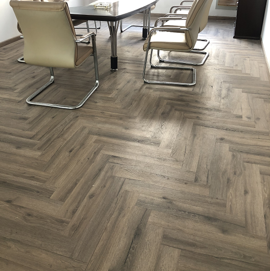 100% virgin material waterproof Herringbone style Vinyl WPC flooring