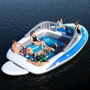 Neue riesige aufblasbare bay brise geschwindigkeit boot party schwimm insel floß