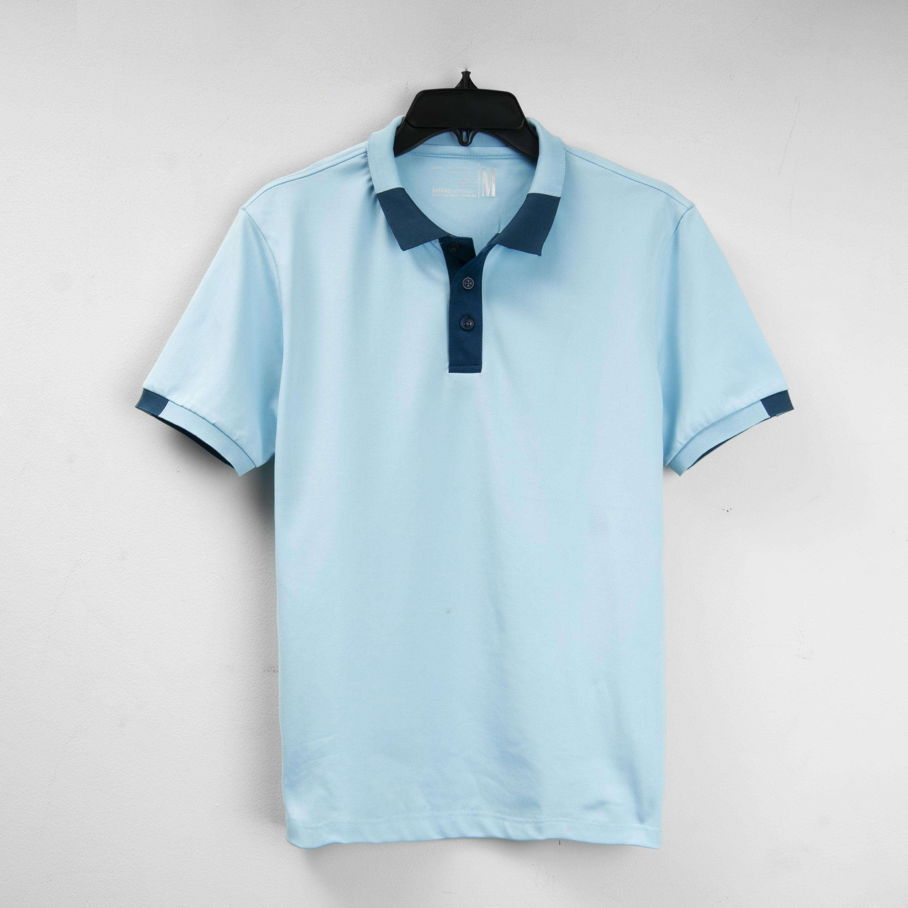 POLO LIGHT BLUE Clothing Bamboo Men Casual Quantity Custom Print Mens Oem Customized Anti Customs Gsm