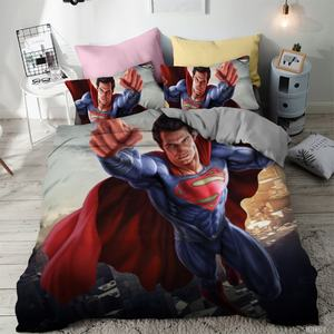 3D printed Bedding Set Superman iron man flash superhero printed Duvet Cover bedding with pillowcase bed set