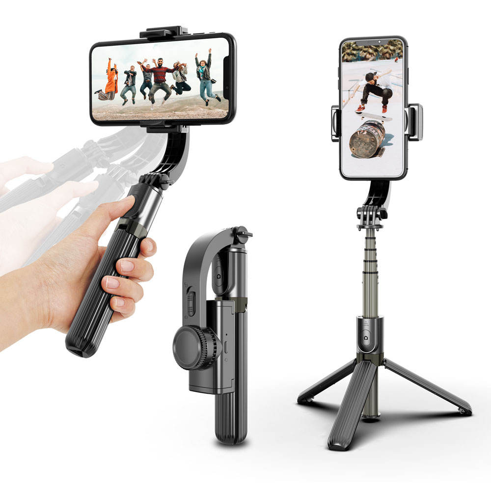 Promotional Mini Flexible Mobile Phone Selfie Stick With Gimbal stabilizer