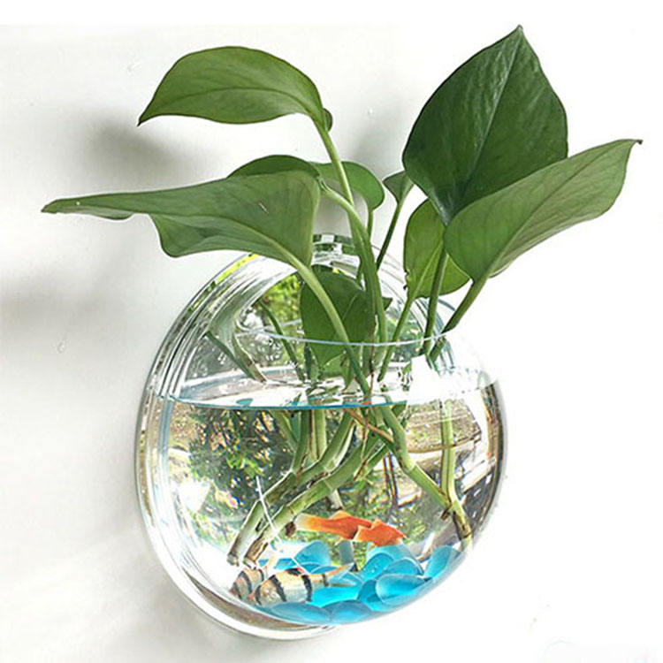 Home decoration use Professional design high transparent wall hanging fish tank