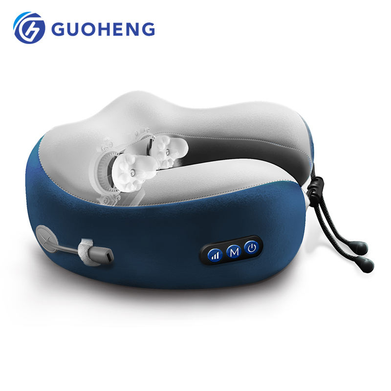 GUOHENG wholesale travel business portable u shaped foam pillow wireless neck massage pillow of massage chair body parts