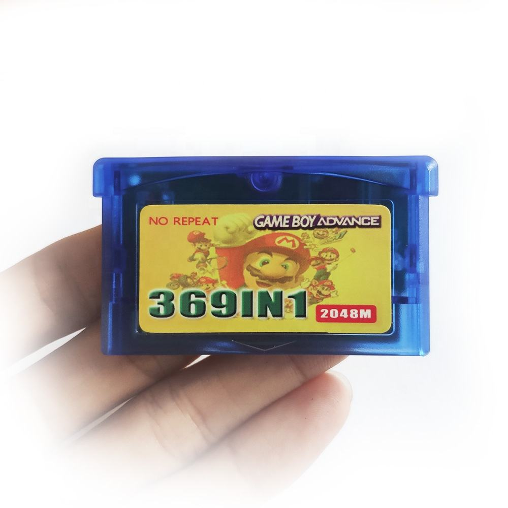 369 in 1 for GBA games multi cart gba sp cartridge for gameboy advance games card FREE Protective case