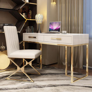 Luxury office desk / painted computer desk / modern minimalist small apartment desk funiture