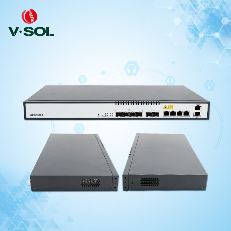 V-SOL Compatible Mini Ftth OLT Gpon Price 4 And 8 Port Gpon OLT