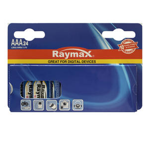 Raymax Private Label Alkaline Battery LR03 New Package 1.5v Super AAA Alkaline Batteries