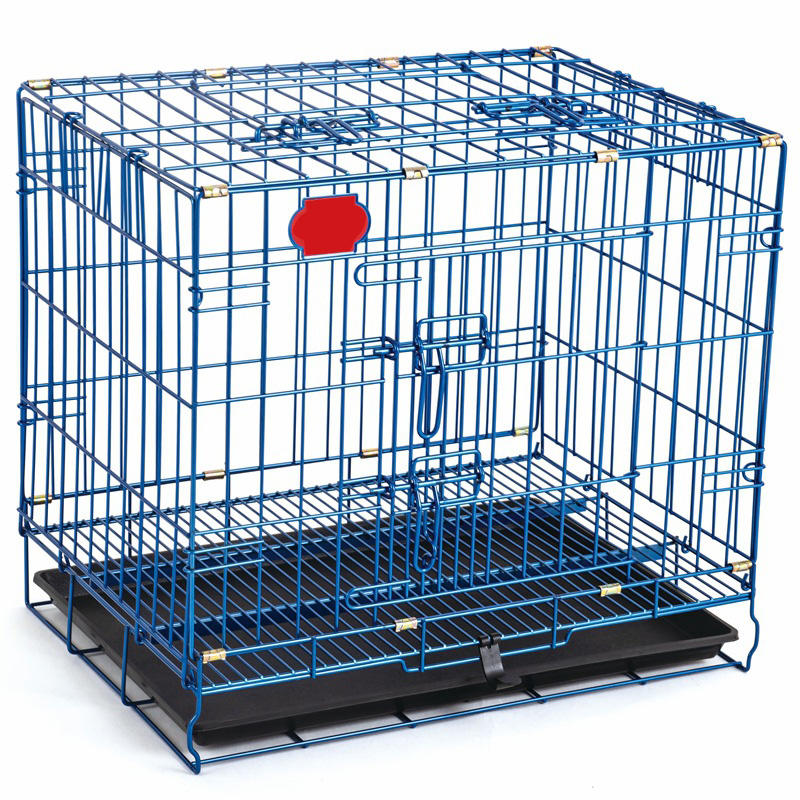 Wholesale Colorful Metal Kennel Mesh Pet Dog Cage For Sale With Plate