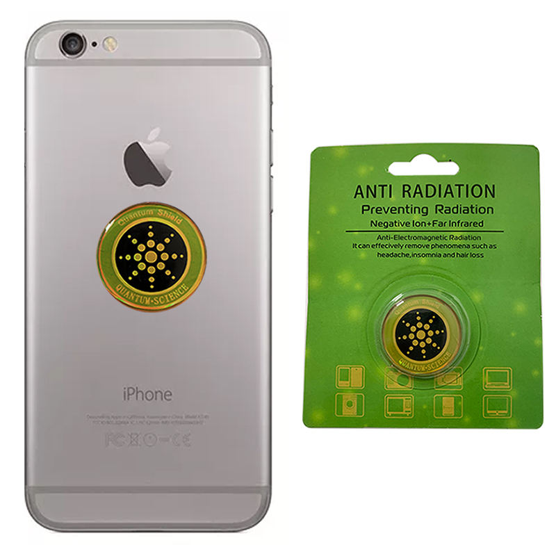 OEM ODMQuantum shield scalar energy sticker Mobile phone radiation against EMF/EMR anti radiation sticker with blister box