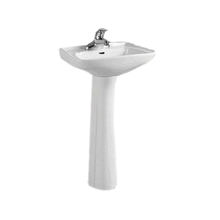 Rectangle shape ceramic pedestal sink small size two pieces hand wash basin