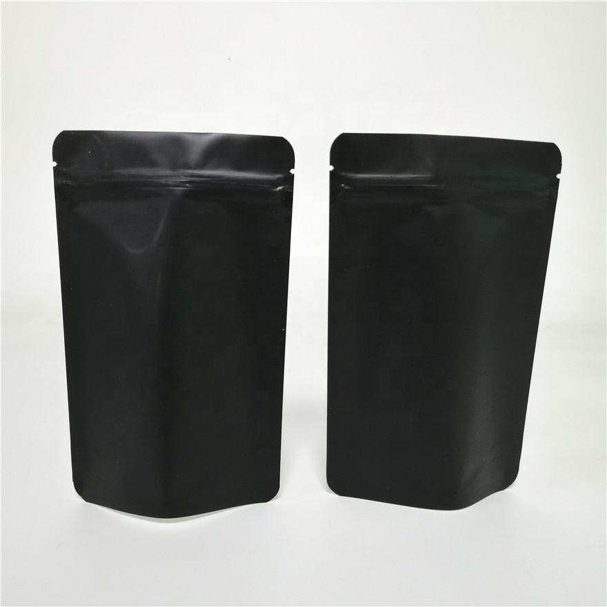 Black Mylar Bags with One Side Clear Transparent Doypack Bag