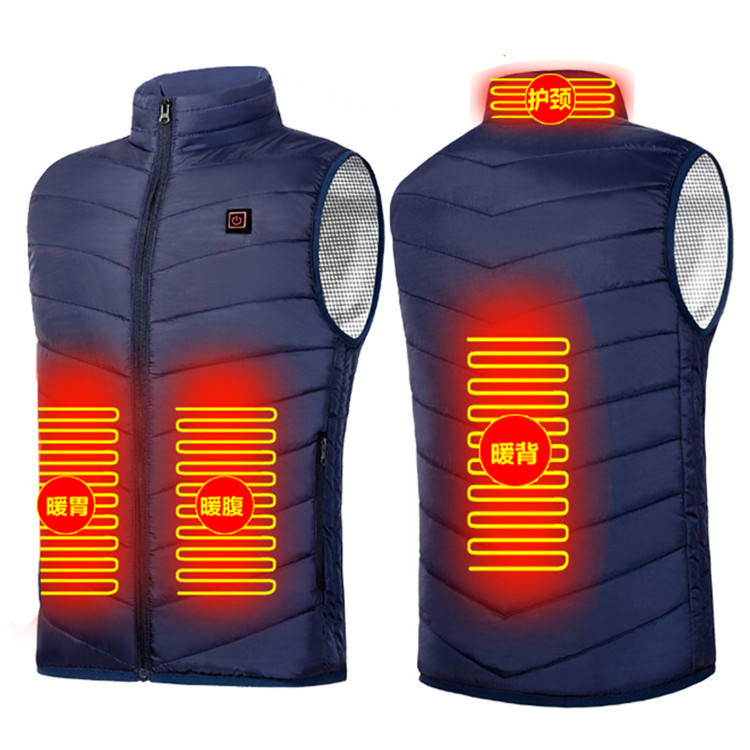 Outwear Unisex Heated Padded Vest 5V USB Charging Battery Operated Smart Back Thermo Electric 4 Areas Zones Heating Jacked Vest