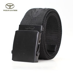 Custom Men Metal Iron Ratchet Canvas Buckle Webbing Canvas B
