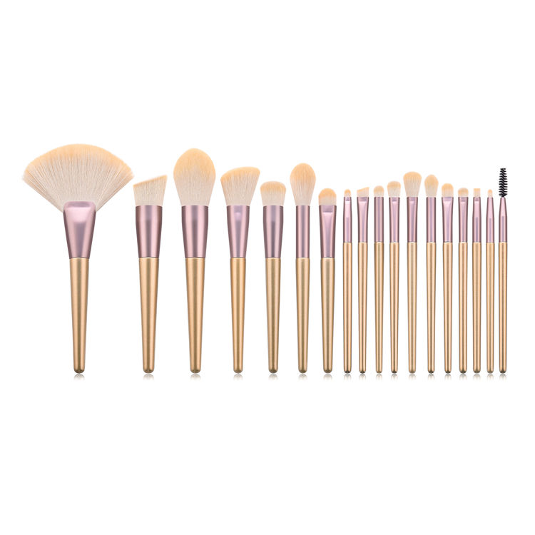 18 pcs soft beauty glitter gold makeup brush for women makeup
