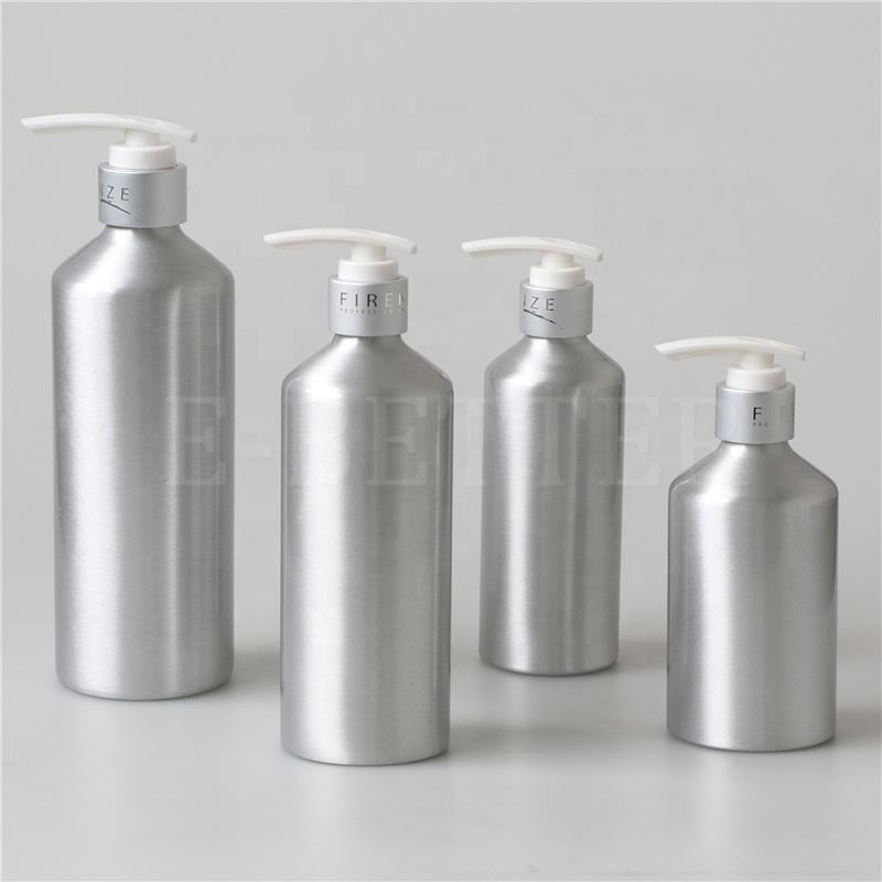 250ml 300ml 500ml 750ml sloping shoulder aluminum bottle pump for hand wash
