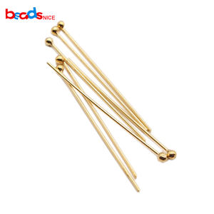 Beadsnice Gold Filled Ball Head Pin for Earring Jewelry Making Handmade Necklace Finding Wholesale Supply