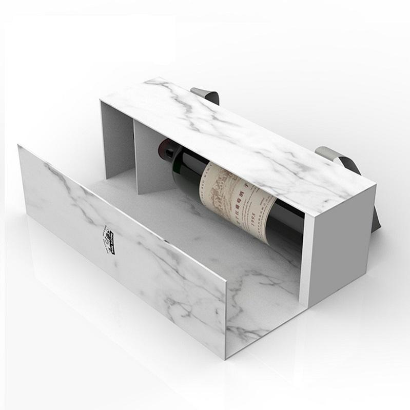 2020 Premium Luxury Personalised Custom Foldable Cardboard Packaging Wine Bottle Accessories Gift Box Paper Gift Wine Box