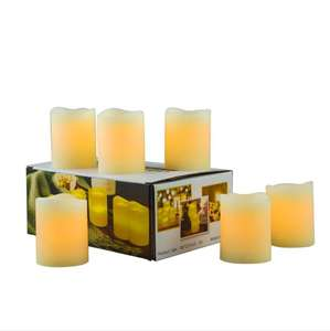 Fiber-optic eletrônico sem chama led tea light candle set 6 pcs amazon lâmpada vela de cera conjunto