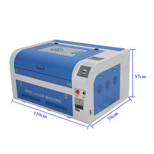 50W acrylic sheet laser cutter and engraver machine, wood cnc Co2 Laser Cutting 4060 6040 400*600mm