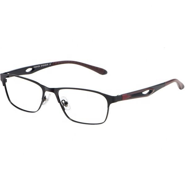 Custom Logo Square EyeGlasses TR90 Light Optical Frame Glasses Men Women Metal Frame Eyewear