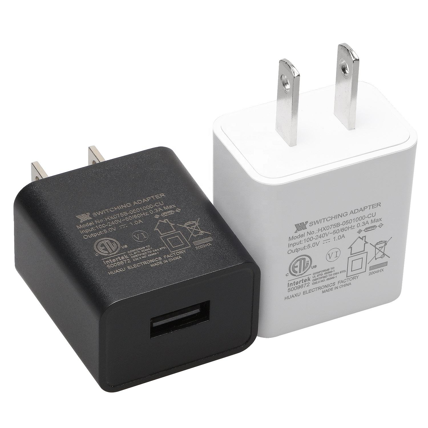 5 V 1A 1.2A 1.5A USB Wall Charger ADAPTER US/EU/UK ปลั๊กพอร์ต Switching Power supply FCC CE ROHS ETL BS GS