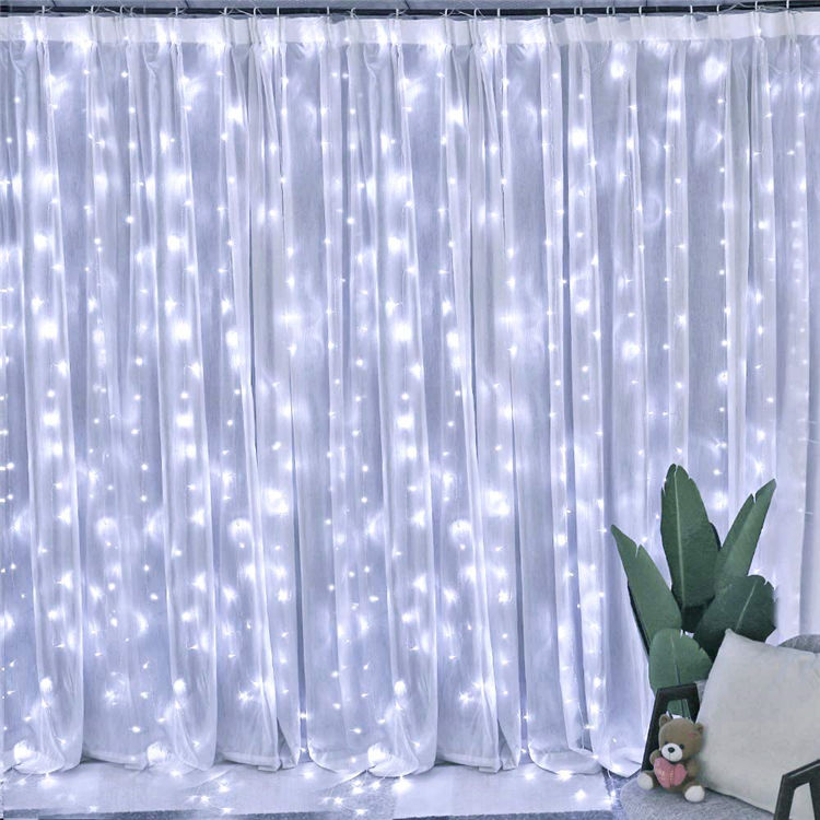 Holiday Christmas Wedding Decoration Safe Fairy Led Color Changing Wall Window Curtain String Light