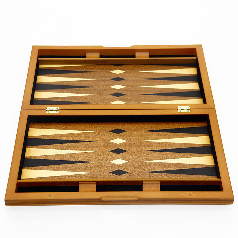 Factory Custom Handmade Luxury Portable Wooden Backgammon Game Boards