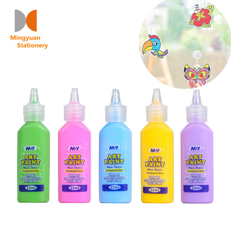 Factory Supply kids Window Paint Art 10.5ml 22ml 3D DIY Fabric paint Craft kits for children decoration Car Window Mirror