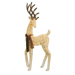 New 3D 3PK 175L LED Outdoor Christmas Standing Reindeer Deer Light For Yard Decoration