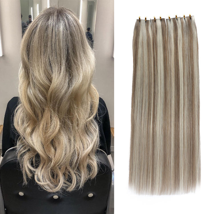 Large Stock Top Quality Virgin Hair 100% Remy Human Double Drawn Tape Hair Extensions