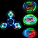 Toys Hot Sale LED Fidget Spinner Crystal Hand Gyro Rotating Stress Relief For Children's Toys
