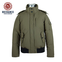 Warm goose feather parka padding jacket men thick winter parka