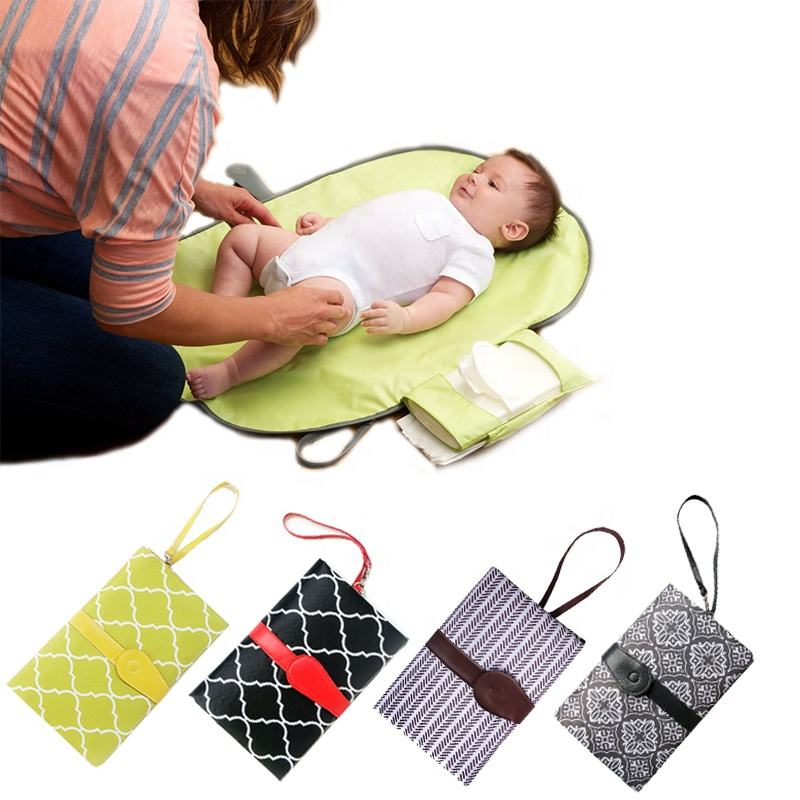 Made China Large Size Diaper Wet Bag Waterproof Padded Travel Portable Baby Changing Pad