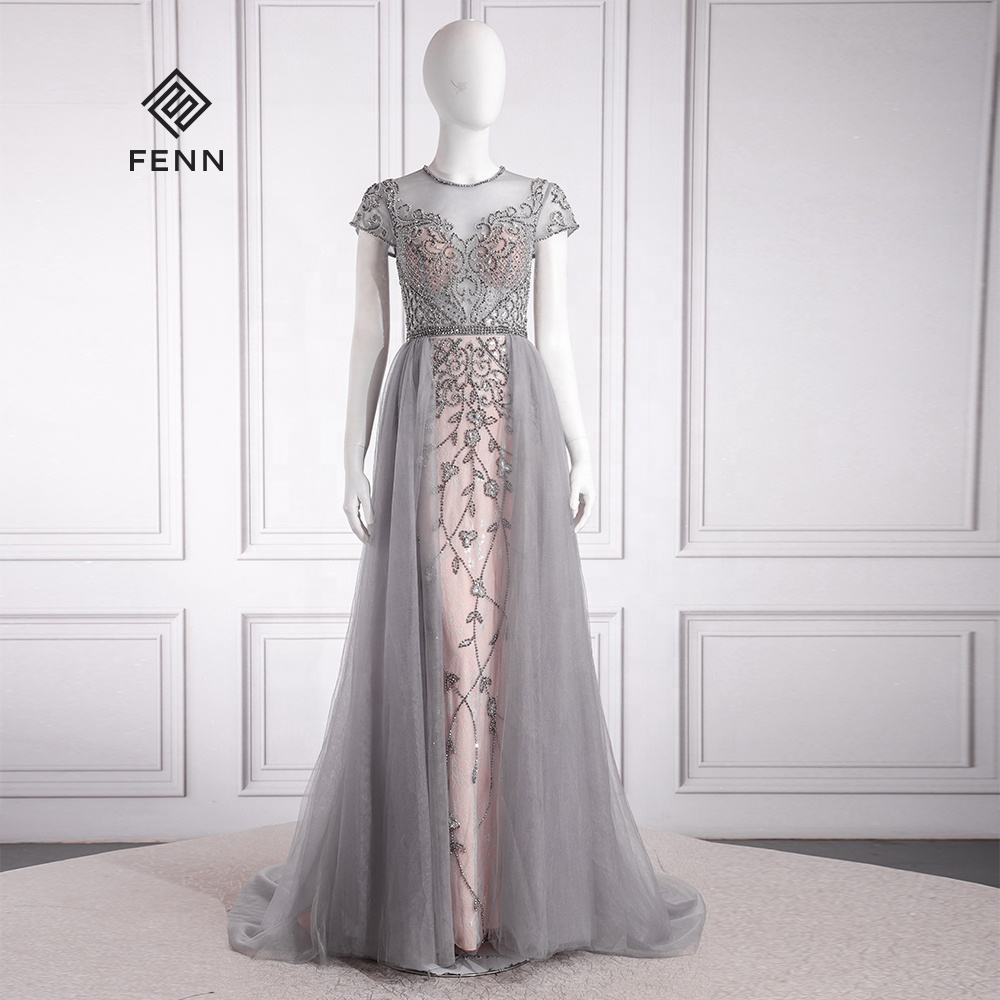 Elegan Dubai Pengantin Prom Custom Made Renda Ballgown Panjang China Formal Pesta Vestidos De Novia