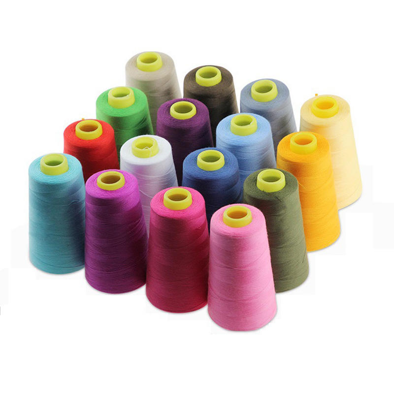 High Tenacity Custom Colors White Black Polyester Spun Sewing Thread Roll 40/2 for Garment Accessories
