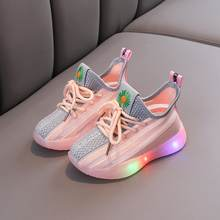 2020 Fashion hot sales Spring/Autumn sneakers baby Lovely infant shoes boys girls tennis cool cute LED lighted casual shoes baby