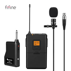 Fifine UHF Wireless Lavalier Lapel Microphone Professional Clip on Microphone for Teaching K037