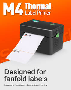 SMK-M4 203 dpi USB interface thermal printer a4 size direct thermal label barcode printer
