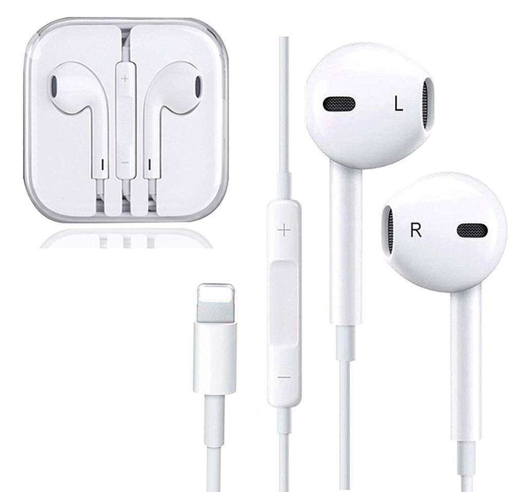 for iPhone Earphone Headphone , with Mic Earbuds Stereo Headphone and Noise Isolating In Ear Wired Lightning Earphone for iPhone