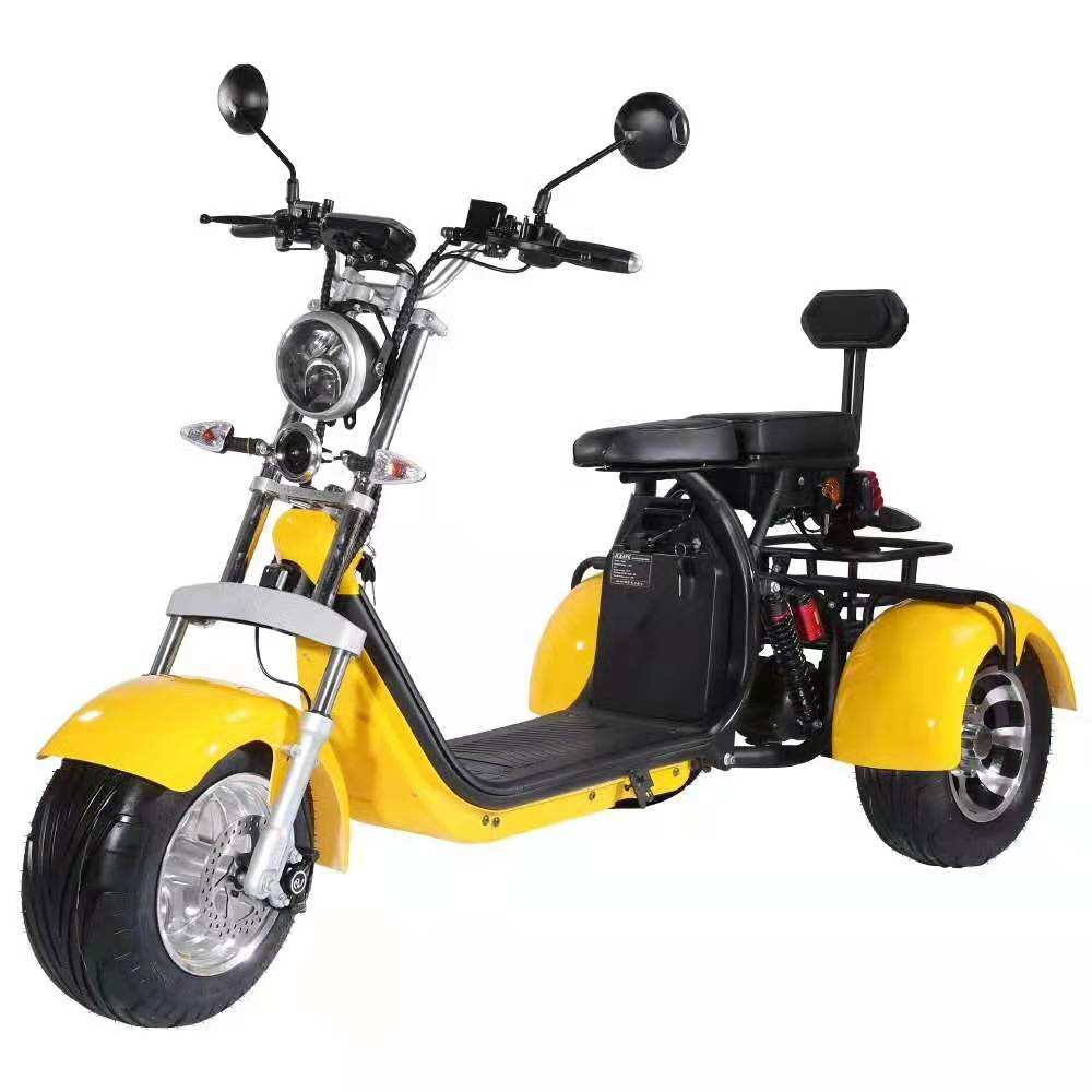 Hot Selling warehouse Adult three wheel bicycle Lithium Battery 60V 20Ah citycoco 2000 w tricycle electric scooter