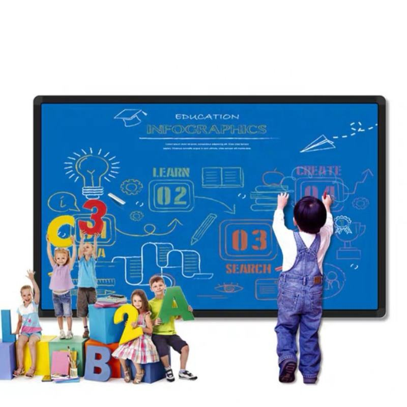 Factory Price 100 inch smart board finger touch digital interactive whiteboard for school all in one pc whiteboard for teaching