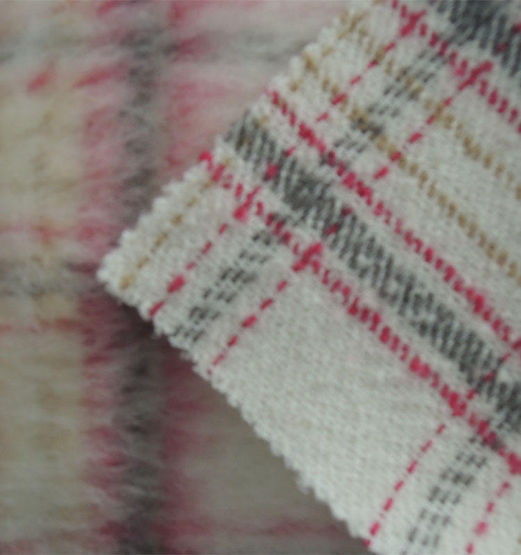 Wool Fabric For Coats High Quality Wool Blend Acrylic Check Wool Fabric For Coat