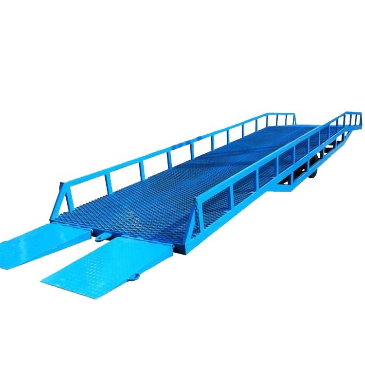 China Qiyun ISO CE IPAF 6t 8t 10t 12t loading container ramp portable transport forklift ramp for forklift loading