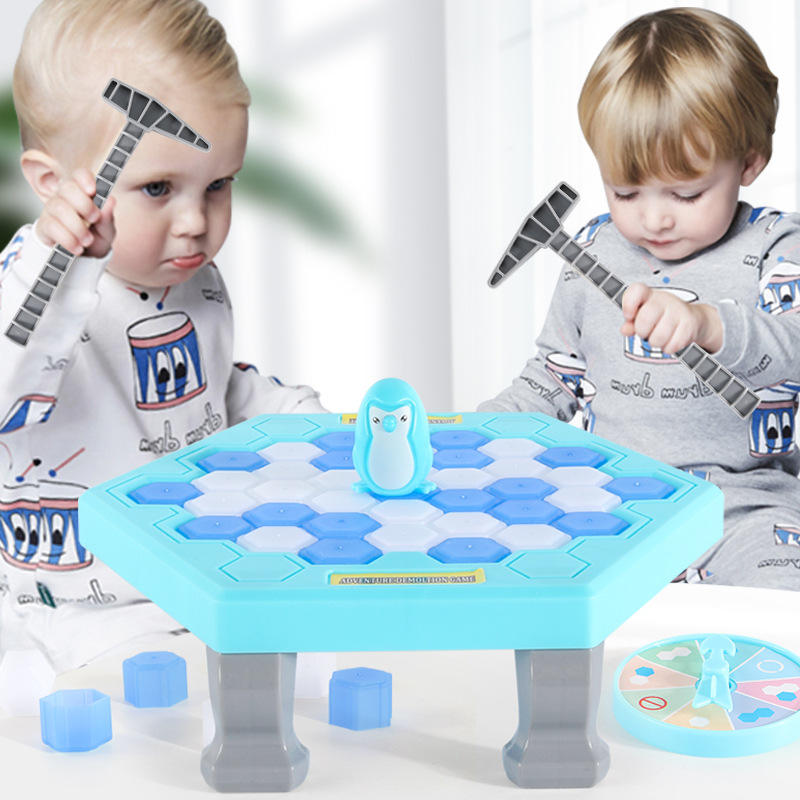 Family Fun Kill time toy Save the Penguin Trap Break ice Game