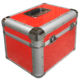 custom high quality 300 1000 red aluminum cd dvd flight carrying storage box case