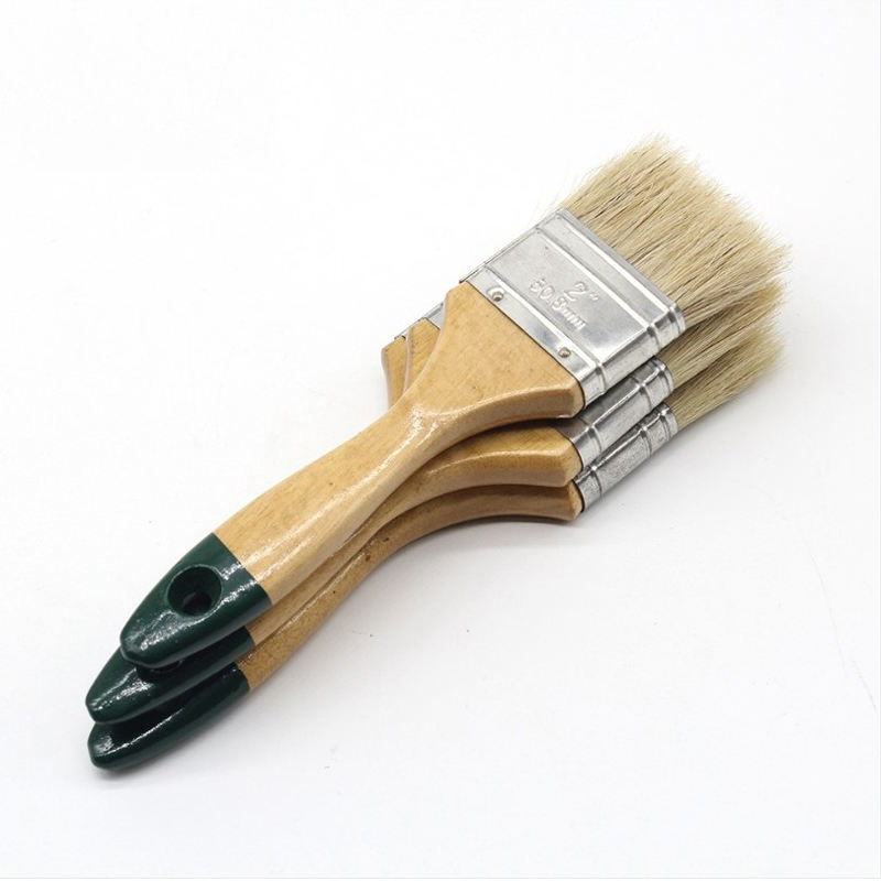 633 Paint Brush 633 high quality white bristle and yellow tip for painting wall